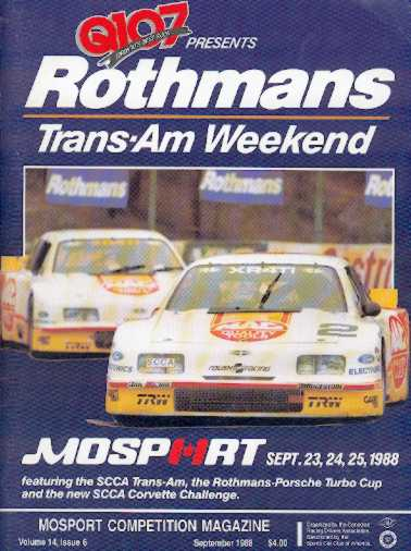 Mid-Ohio Sports Car Course >> 1988 Trans-Am Series Programmes | The Motor Racing Programme Covers Project
