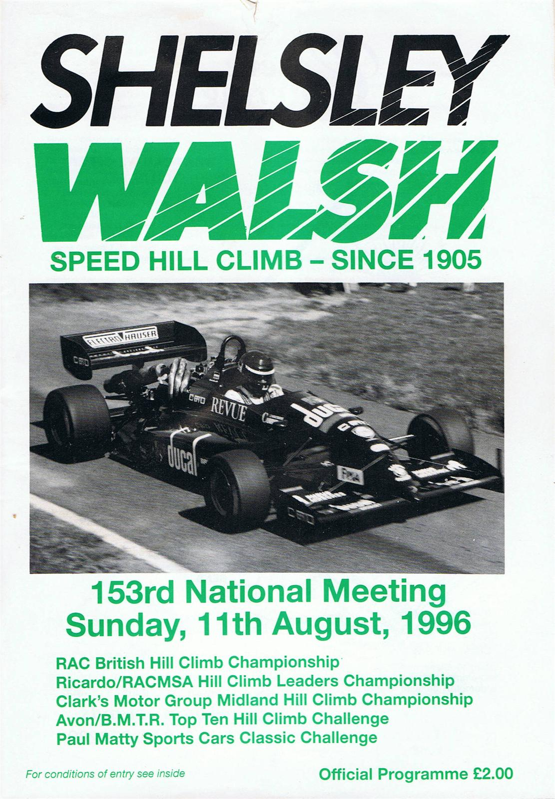 Shelsley Walsh Hill Climb, 11/08/1996